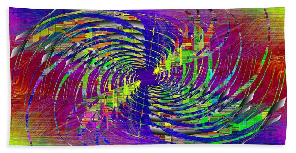 Abstract Hand Towel featuring the digital art Abstract Cubed 298 by Tim Allen