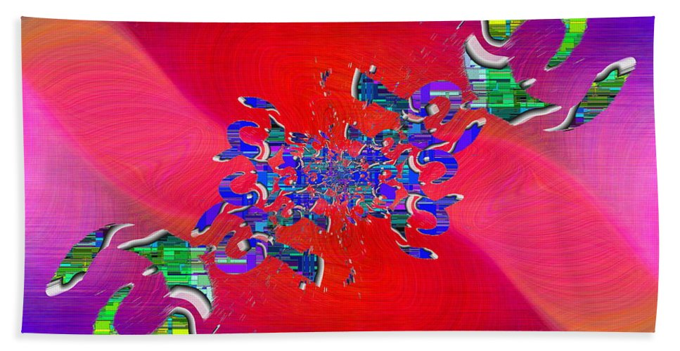 Abstract Hand Towel featuring the digital art Abstract Cubed 344 by Tim Allen