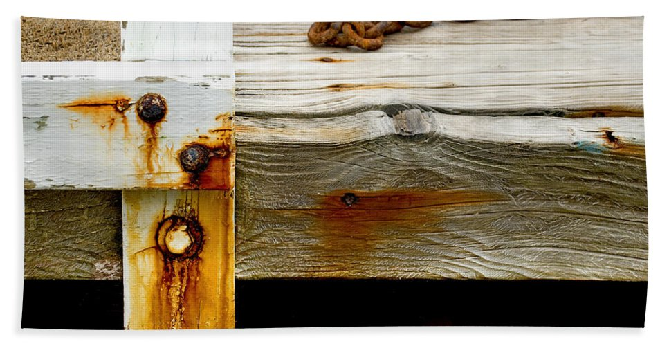 Abstract Hand Towel featuring the photograph Abstract Dock by Charles Harden