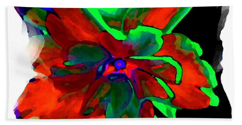 Abstract Hand Towel featuring the digital art Abstract Elegance by Will Borden