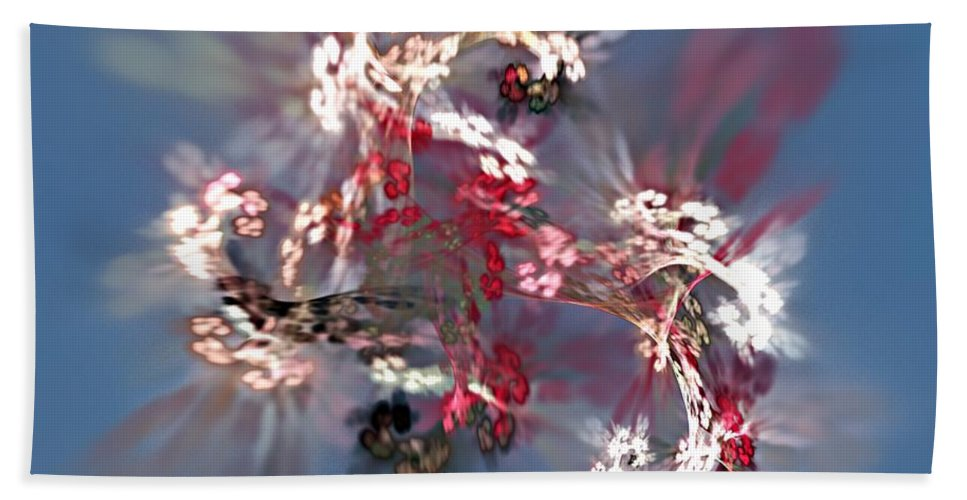 Floral Hand Towel featuring the digital art Abstract Floral Fantasy by David Lane
