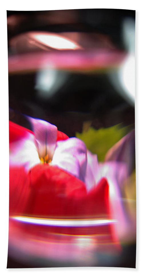 Abstract Hand Towel featuring the photograph Abstract Flowers Part Two by Scott Wyatt