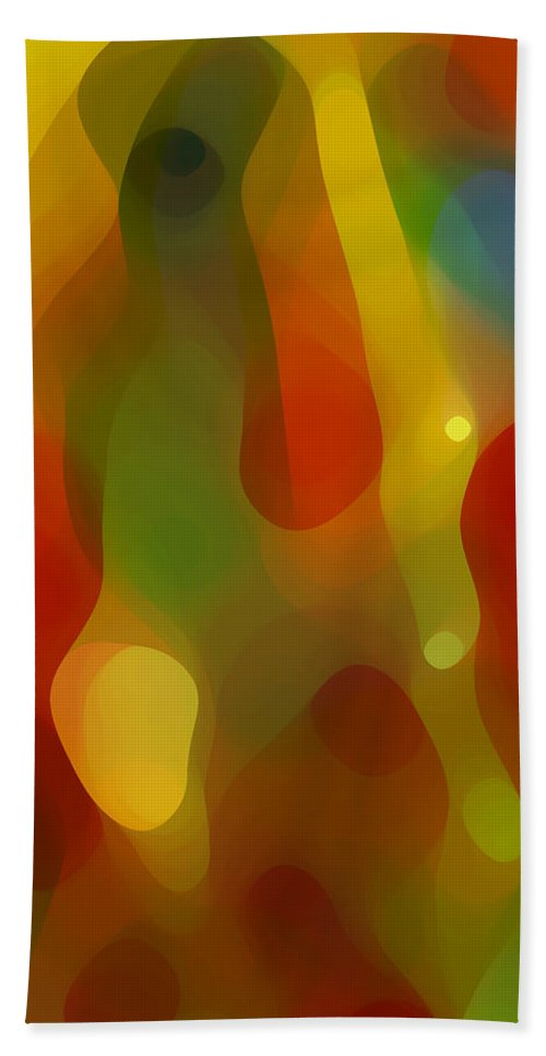 Abstract Art Hand Towel featuring the painting Abstract Flowing Light by Amy Vangsgard