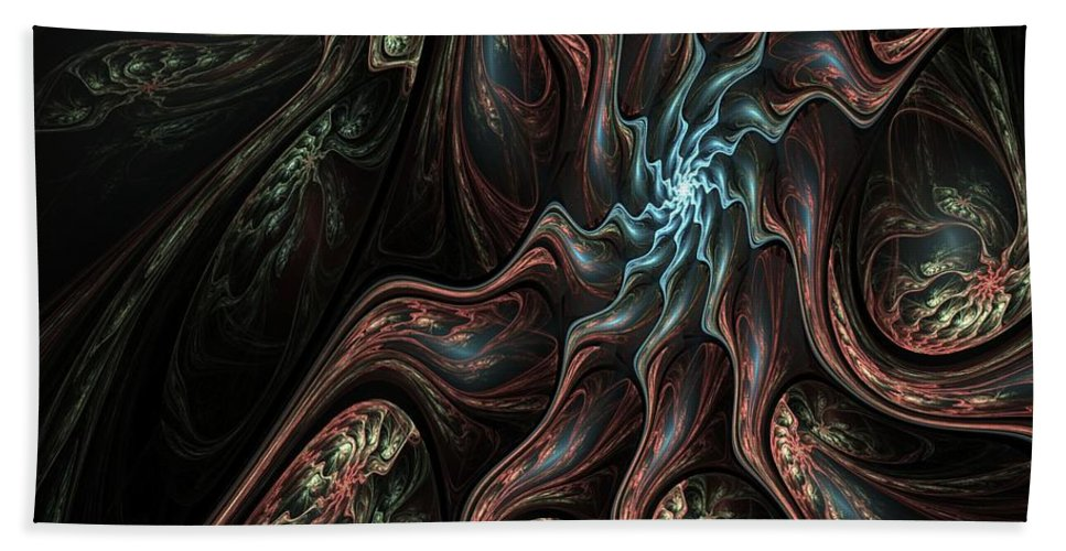 Digital Painting Hand Towel featuring the digital art Abstract Fractal 050810 by David Lane