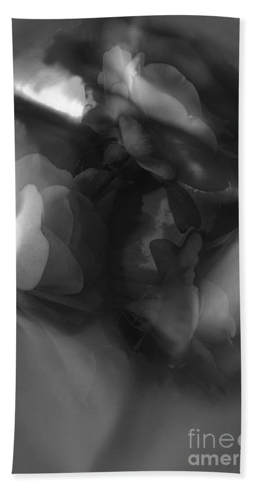 Abstract Hand Towel featuring the photograph Abstract In Floral # 8 In Black And White. by Alexander Vinogradov