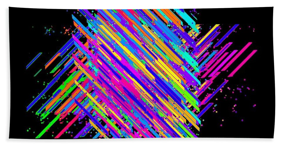 Abstract Lines Bath Sheet featuring the digital art Abstract Lines by Chris Butler