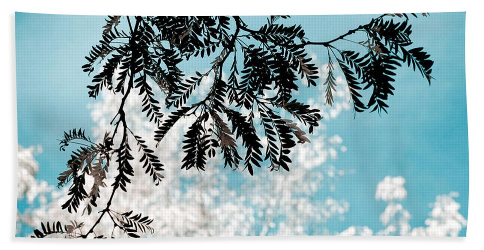 Tree Hand Towel featuring the photograph Abstract Locust by Marilyn Hunt
