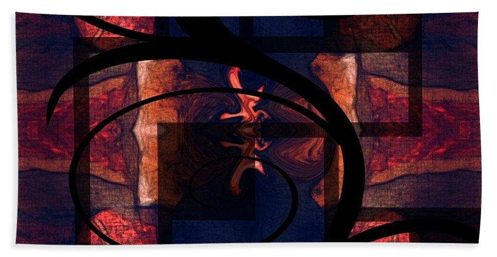 Abstract Hand Towel featuring the digital art Abstract Me by Melisha Robinson