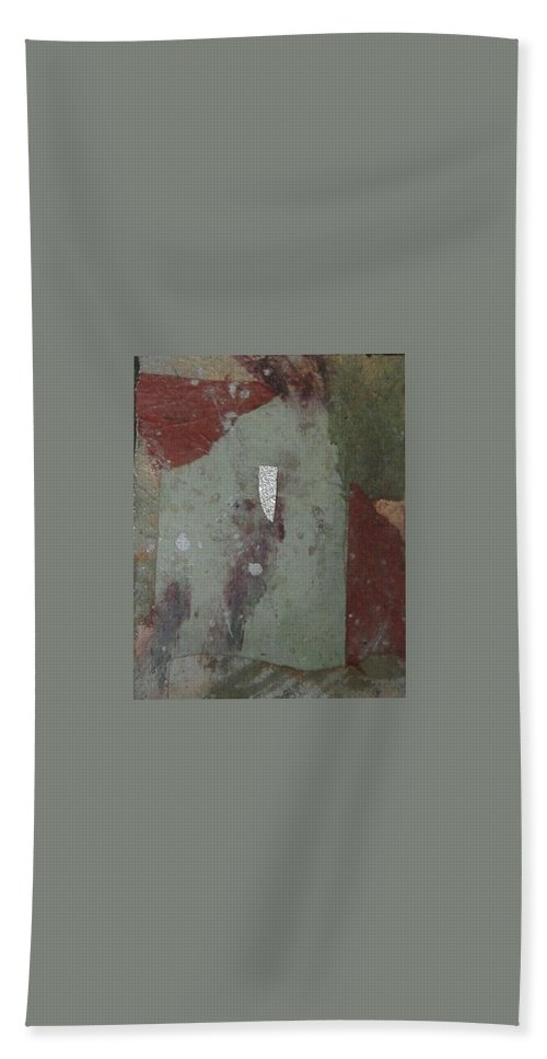 Hand Towel featuring the mixed media Abstract One by Pat Snook
