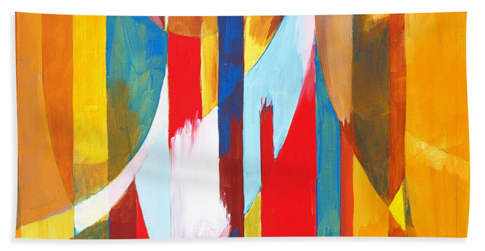 Abstract Hand Towel featuring the digital art Abstract Painting by Unknown