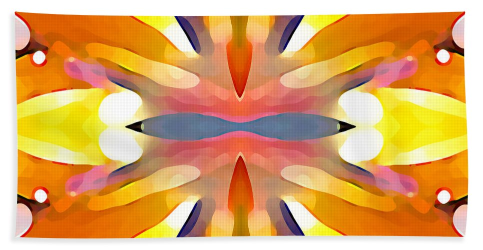 Abstract Art Bath Sheet featuring the painting Abstract Paradise by Amy Vangsgard
