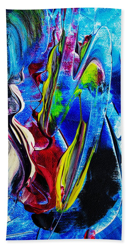 Abstract Bath Sheet featuring the painting Abstract Perfection by Walter Zettl