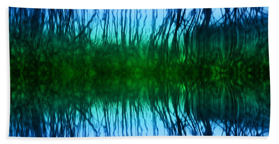 Pond Hand Towel featuring the photograph Abstract Reeds No. 1 by Tammy Wetzel