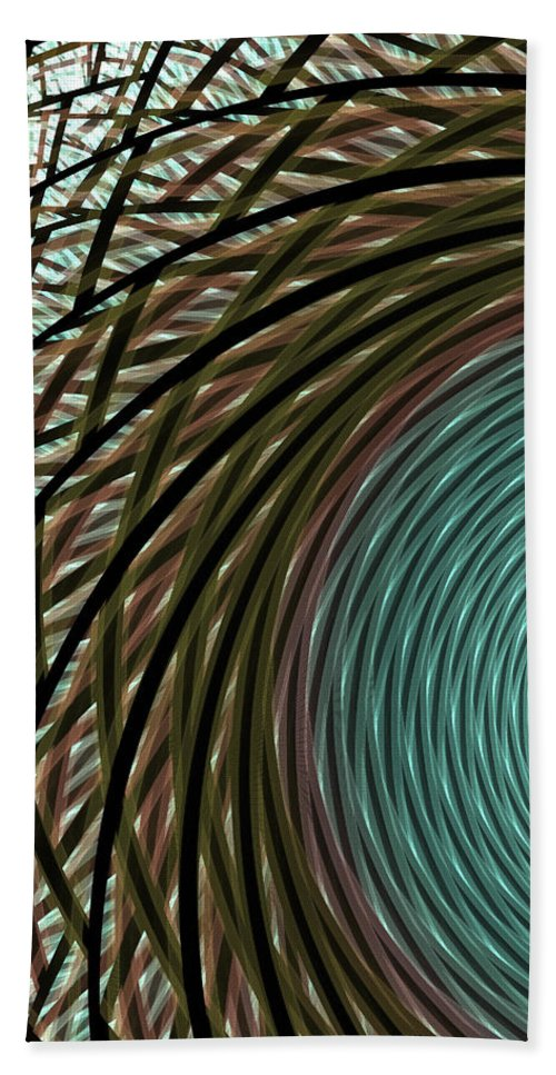 Apophysis Bath Towel featuring the digital art Abstract Ring by Deborah Benoit