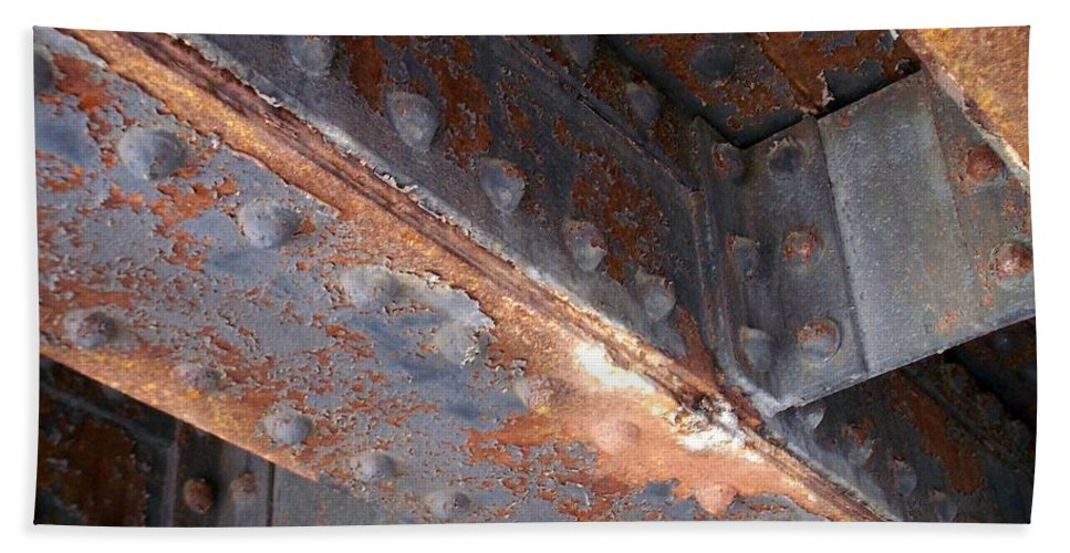 Urban Bath Towel featuring the photograph Abstract Rust 3 by Anita Burgermeister