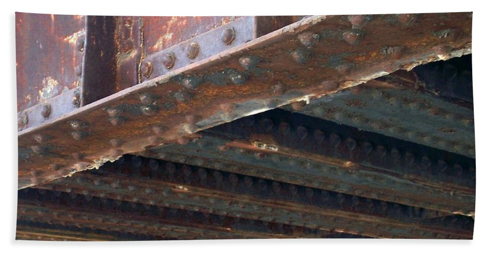 Urban Bath Towel featuring the photograph Abstract Rust 4 by Anita Burgermeister