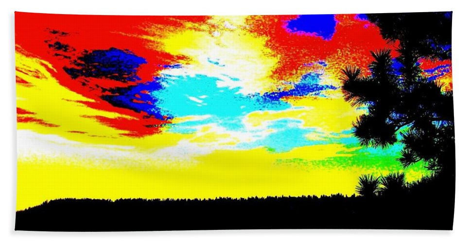 Abstract Hand Towel featuring the digital art Abstract Sky by Will Borden