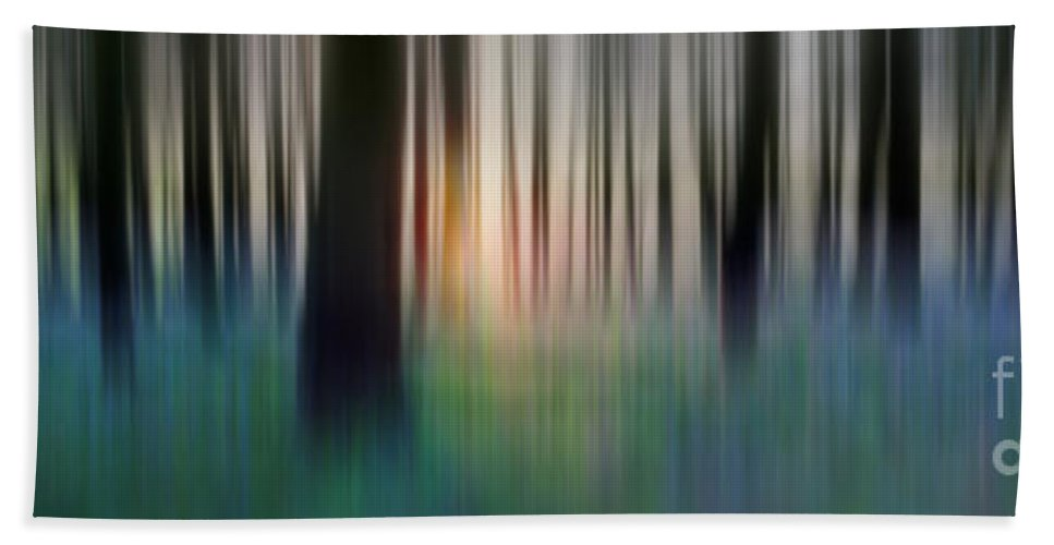Abstract Hand Towel featuring the photograph Spring Forest by Rod McLean