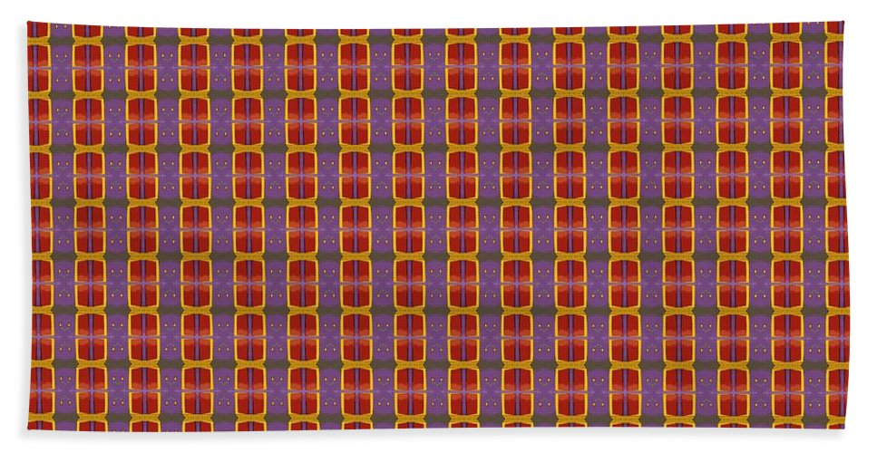 Art Bath Sheet featuring the painting Abstract Square 16 by Patrick J Murphy