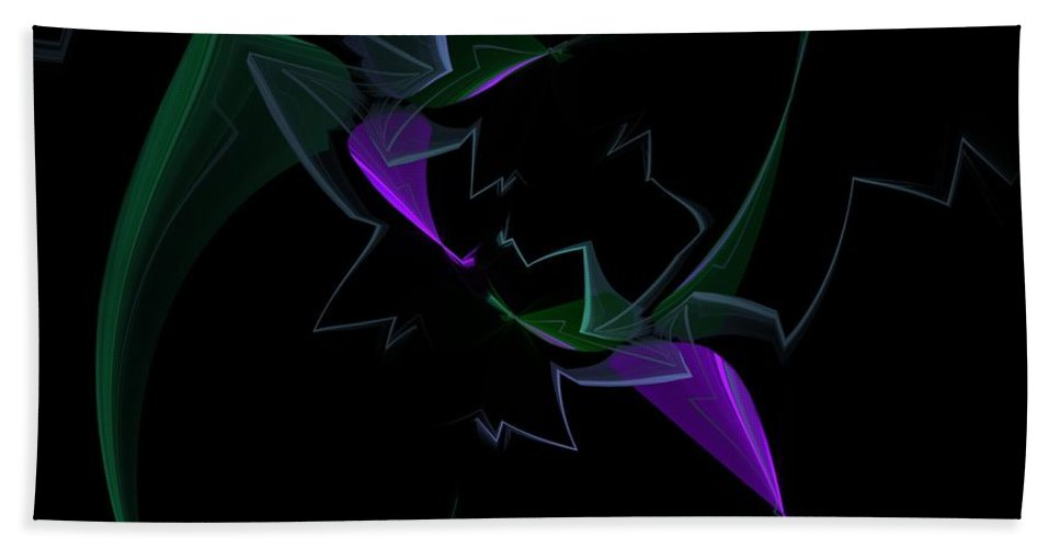 Digital Painting Hand Towel featuring the digital art Abstract Still Life by David Lane