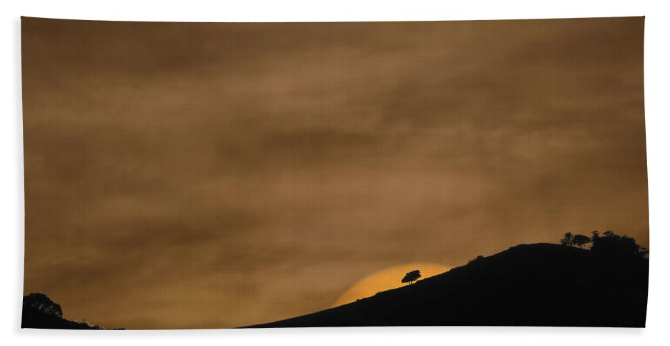 Landscapes Bath Towel featuring the photograph Abstract Sunset At Del Valle by Karen W Meyer