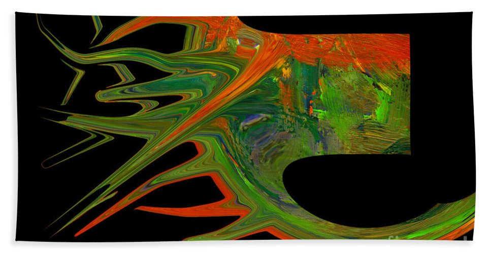 Abstract Bath Towel featuring the photograph Abstract Tenticles by Jeff Swan