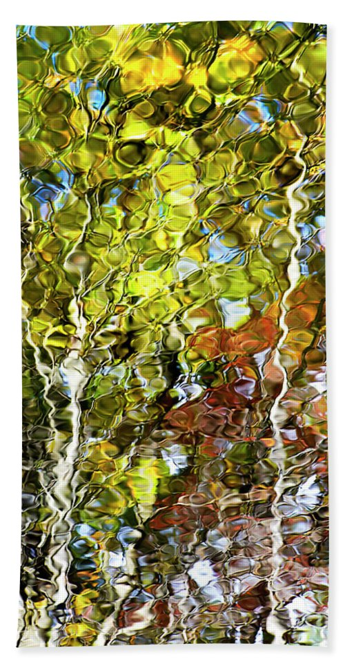 Tree Reflection Bath Sheet featuring the photograph Abstract Tree Reflection by Christina Rollo