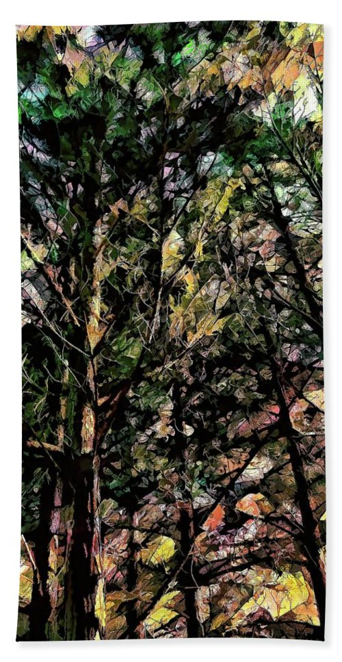 Trees Bath Sheet featuring the photograph Abstract Trees 691 by Kristalin Davis