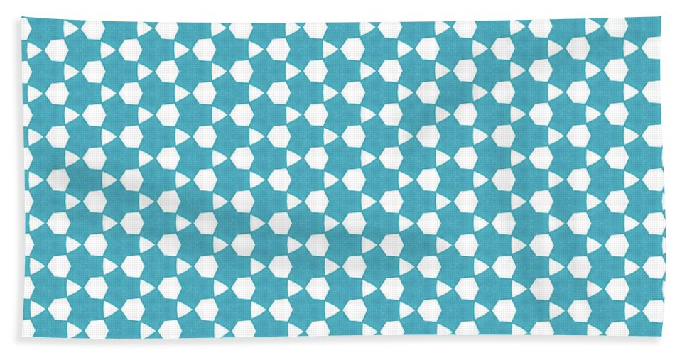 Pattern Bath Sheet featuring the digital art Abstract Turquoise Pattern 1 by Alisha at AlishaDawnCreations