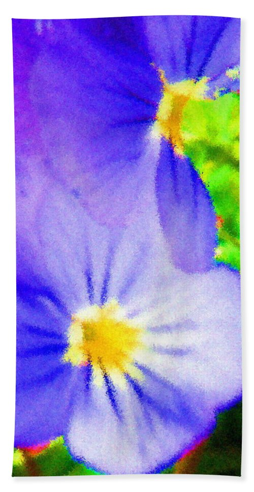 Landscapes Hand Towel featuring the digital art Abstract Violets by April Patterson