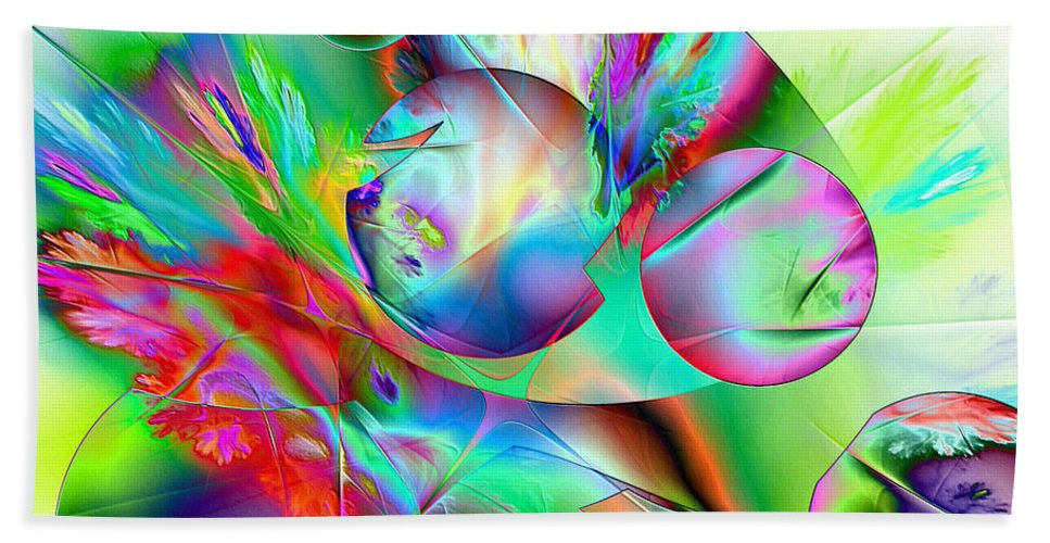 Digital Painting Bath Sheet featuring the digital art Abstract051710b by David Lane