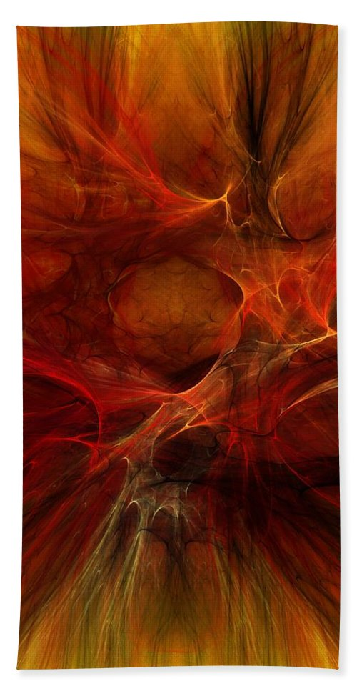 Digital Painting Bath Sheet featuring the digital art Abstract0610b by David Lane