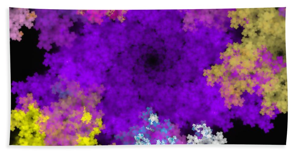 Abstract Digital Painting Bath Sheet featuring the digital art Abstract10-16-09-1 by David Lane