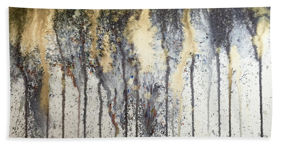 Abstract Bath Sheet featuring the painting Abstract.19 by Linda Stout