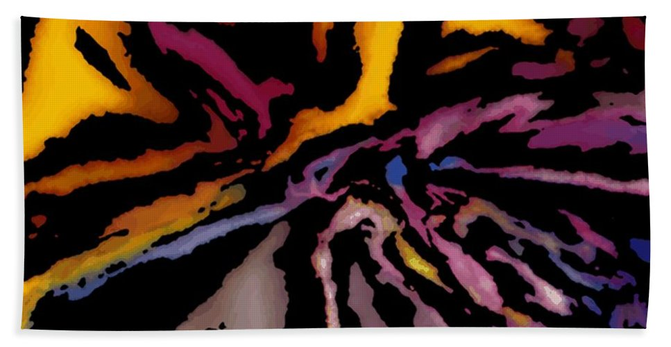 Abstract Bath Sheet featuring the digital art Abstract309g by David Lane