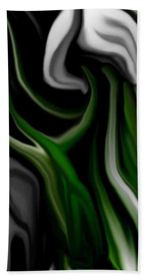 Abstract Hand Towel featuring the digital art Abstract309h by David Lane