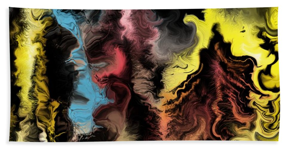 Abstract Hand Towel featuring the digital art Abstract309i by David Lane