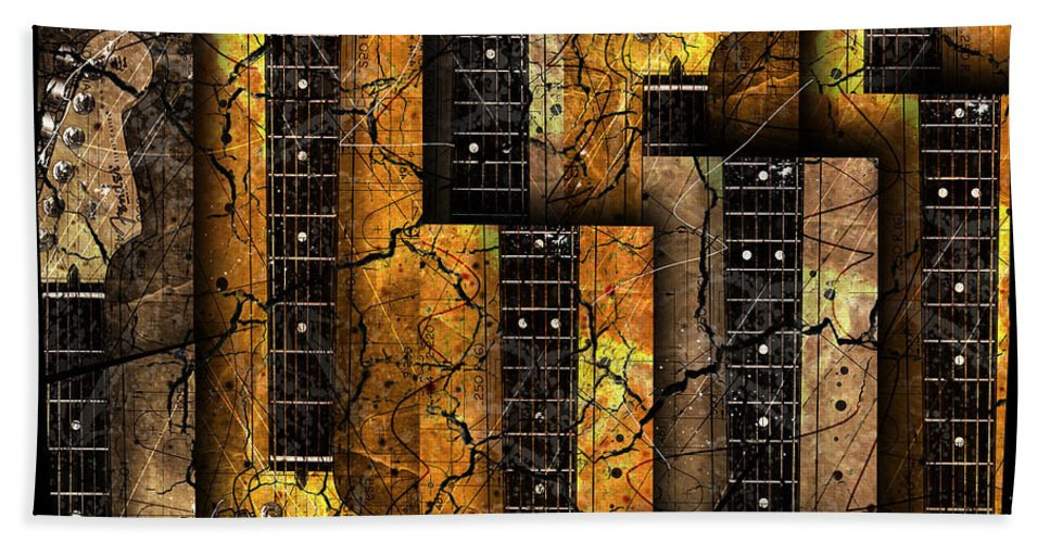 Guitars Hand Towel featuring the digital art Abstracta 26 Nexs by Gary Bodnar