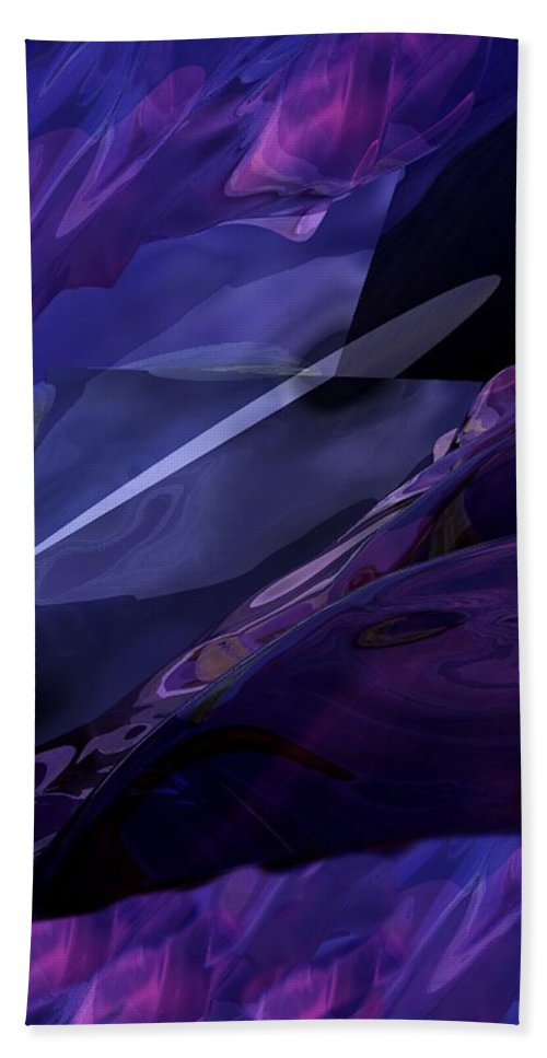 Abstract Hand Towel featuring the digital art Abstractbr6-1 by David Lane