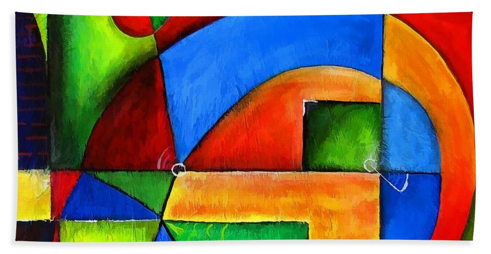 Abstraction Bath Sheet featuring the painting Abstraction 1724 by Marek Lutek