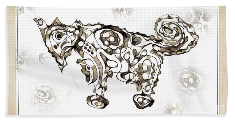 Abstraction Hand Towel featuring the digital art Abstraction 1950 by Marek Lutek
