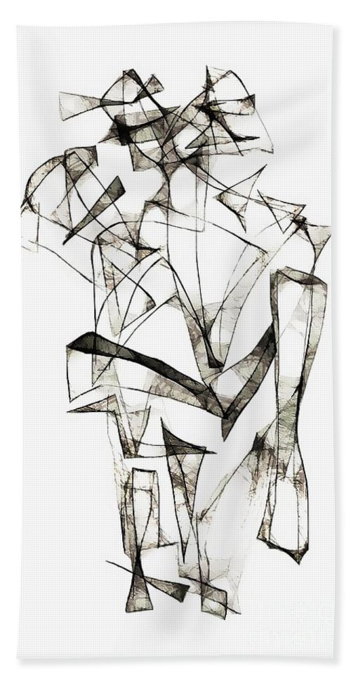 Abstraction Hand Towel featuring the digital art Abstraction 1953 by Marek Lutek