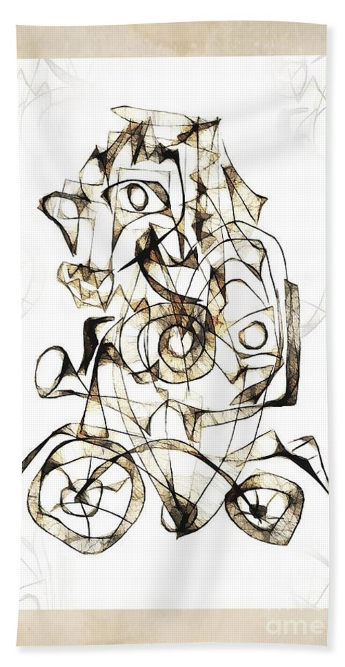 Abstraction Hand Towel featuring the digital art Abstraction 1959 by Marek Lutek