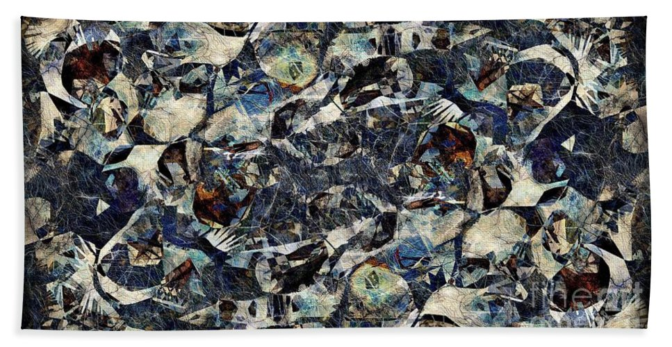 Abstraction Bath Towel featuring the digital art Abstraction 2326 by Marek Lutek