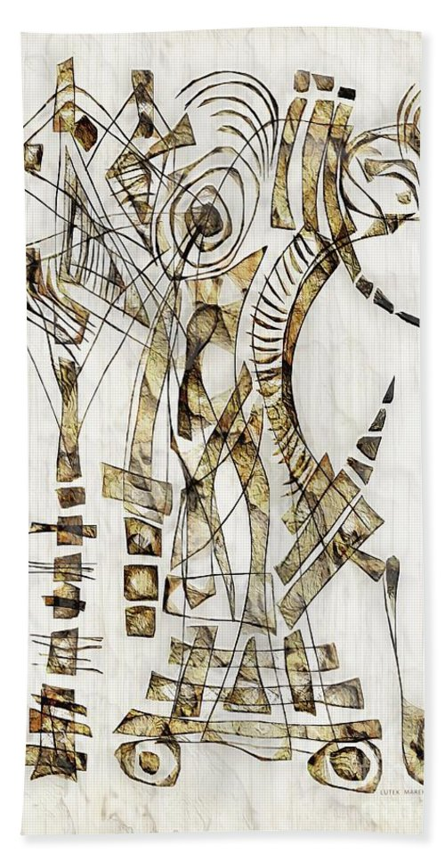 Abstraction Hand Towel featuring the digital art Abstraction 2563 by Marek Lutek