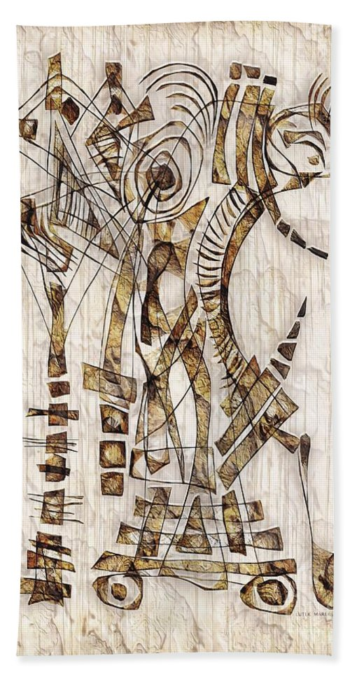 Abstraction Hand Towel featuring the digital art Abstraction 2566 by Marek Lutek