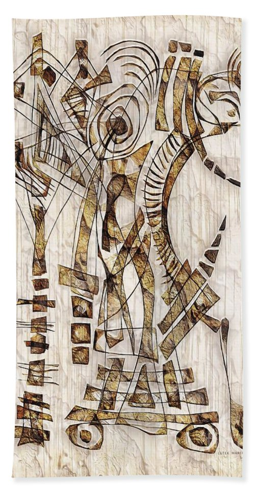Abstraction Hand Towel featuring the digital art Abstraction 2567 by Marek Lutek