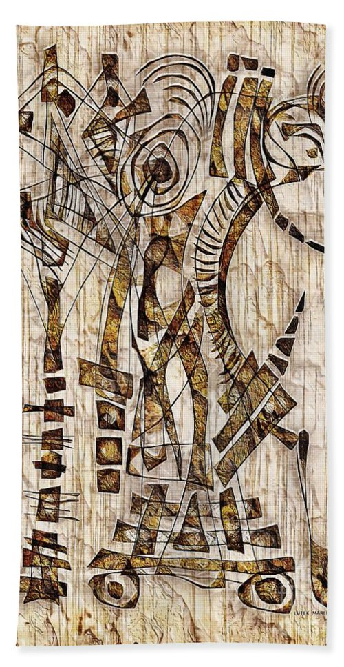 Abstraction Hand Towel featuring the digital art Abstraction 2568 by Marek Lutek