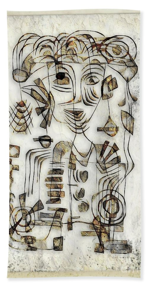 Abstraction Hand Towel featuring the digital art Abstraction 2569 by Marek Lutek
