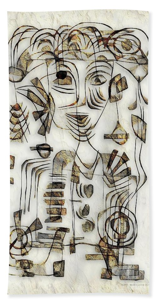 Abstraction Hand Towel featuring the digital art Abstraction 2570 by Marek Lutek